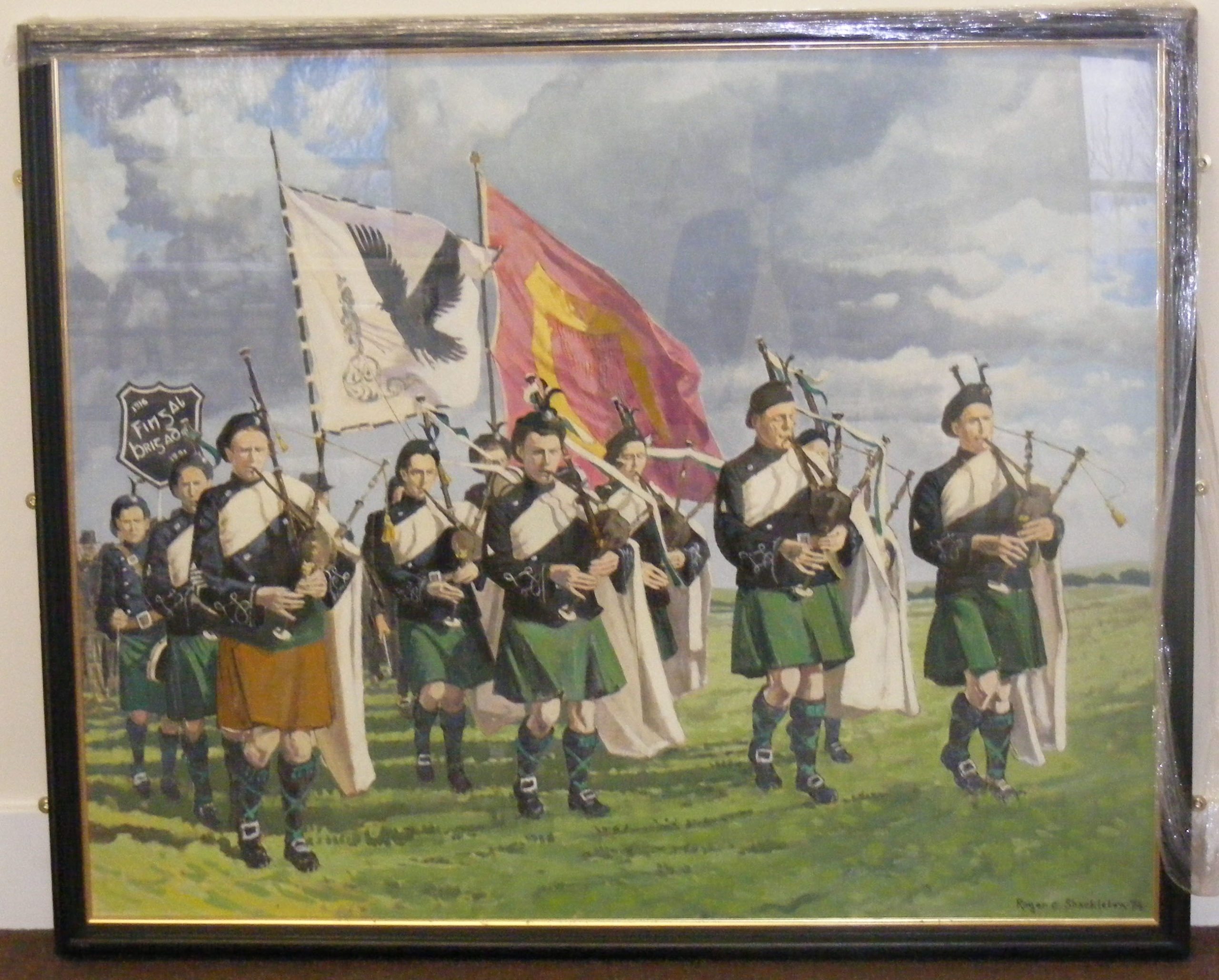 Background to the Painting of Black Raven Pipe Band
